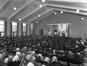 Catholic school Mass, South Yorkshire, 1967. Artist: Michael Walters