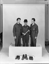 'Three Men in a Bath', 1966. Artist: Michael Walters