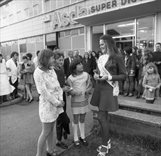 Miss Great Britain at Asda, Rotherham, South Yorkshire, 1972. Artist: Michael Walters