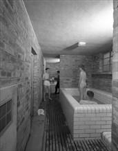 Sheffield United FC training ground bathroom, Sheffield, South Yorkshire, 1961. Artist: Michael Walters