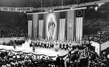 Rally of the pro-Nazi German American Bund, Madison Square Garden, New York, USA, 1939. Artist: Unknown