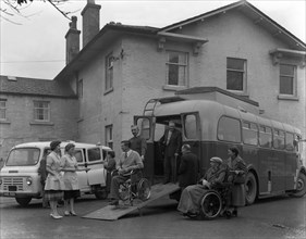 Paraplegic bus, Pontefract, West Yorkshire, 1960. Artist: Michael Walters