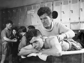 After the fight, the Horden Colliery training Gym, Sunderland, Tyne and Wear, 1964.  Artist: Michael Walters