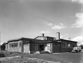 Exterior of the Royston Working Men's Club Barnsley, South Yorkshire, 1962. Artist: Michael Walters