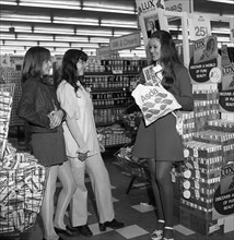 Miss Great Britain at Asda for a promotion of Lux Soap, Rotherham, South Yorkshire, 1972. Artist: Michael Walters