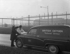 British Oxygen van at the Park Gate Iron and Steel Company, Rotherham, South Yorkshire, 1964. Artist: Michael Walters