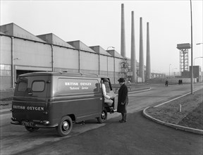 Morris J4 van at the Park Gate Iron and Steel Company, Rotherham, South Yorkshire, 1964. Artist: Michael Walters