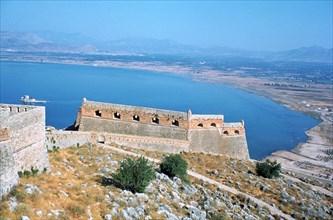 Fortress of Palamidi, Nafplion, Peloponnese, Greece.