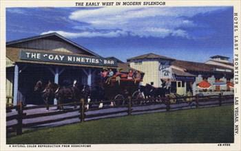 'The Early West in Modern Splendor', postcard, 1944. Artist: Unknown