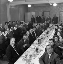 Awards ceremony dinner for ICI employees, Doncaster, South Yorkshire, 1962. Artist: Michael Walters