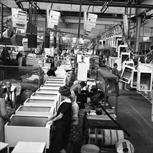 Refrigerators being assembled at the GEC in Swinton, South Yorkshire, 1963.  Artist: Michael Walters