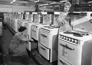 Cooker production line at the GEC factory, Swinton, South Yorkshire, 1960.  Artist: Michael Walters