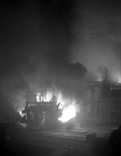 Arc furnace in a steelworks, Sheffield, South Yorkshire, 1964.  Artist: Michael Walters