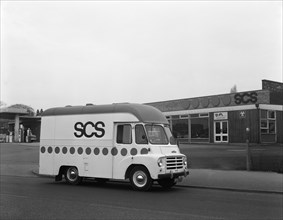 Early 1960s Austin LD high top van (mobile Shop), Scunthorpe, Lincolnshire, 1965. Artist: Michael Walters