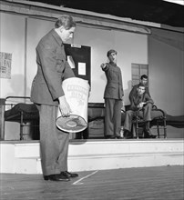 A scene from the Terence Rattigan play, Ross, Worksop College, Nottinghamshire, 1963.  Artist: Michael Walters