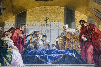 Venetians pay tribute to the body of St Mark. Artist: Samuel Magal