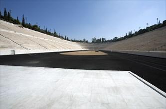 A Roman stadium, Athens, Greece. Artist: Samuel Magal