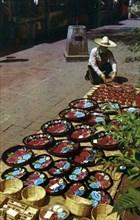 Sidewalk merchant, Olvera Street, Los Angeles, California, USA, 1953. Artist: Unknown
