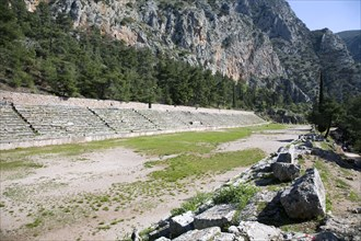 The stadium at Delphi, Greece. Artist: Samuel Magal