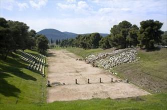 The stadium at Epidauros, Greece. Artist: Samuel Magal