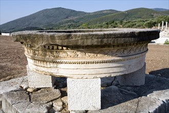 A monument in the stadium at Messene, Greece. Artist: Samuel Magal