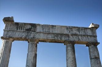 The Propylon of the gymnasium at Messene, Greece. Artist: Samuel Magal