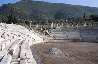 The stadium at Messene, Greece. Artist: Samuel Magal