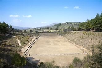 The stadium at Nemea, Greece. Artist: Samuel Magal