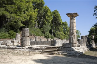 The Temple of Hera at Olympia, Greece. Artist: Samuel Magal