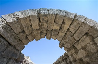 A vaulted passageway linking the stadium to the Altis in Olympia, Greece. Artist: Samuel Magal