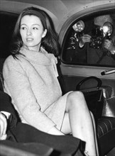 Christine Keeler arriving at the Old Bailey, London, 1963. Artist: Unknown