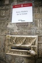 The mail box outside Ardiaca House, Archdeacon's Palace, Barcelona, Spain, 2007. Artist: Samuel Magal