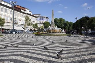 Obelisk and fountain, Republic Square, Braga, Portugal, 2009.  Artist: Samuel Magal