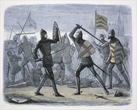 The Siege of Calais, France, 1346-1347 (1864). Artist: James William Edmund Doyle