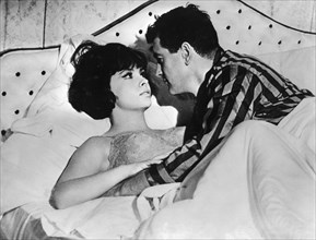 Film actors Rock Hudson and Gina Lollobrigida, 1960s. Artist: Unknown