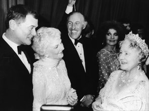 The Queen Mother meets Larry Hagman, Royal Variety Performance, London, 1980. Artist: Unknown