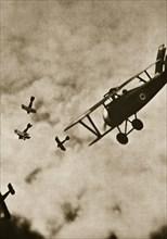 Pursuit. Aerial warfare, World War I, c1916-c1918. Artist: Unknown