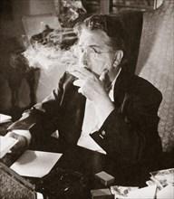 Alexander Woollcott, American critic, raconteur, and radio presenter, early 1930s. Artist: Unknown