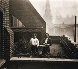 Emmeline and Christabel Pankhurst, British suffragettes, London, 12 October 1908. Artist: Unknown