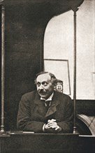Herbert Gladstone in the witness box at the trial of Emmeline Pankhurst and others, London, 1908. Artist: Unknown