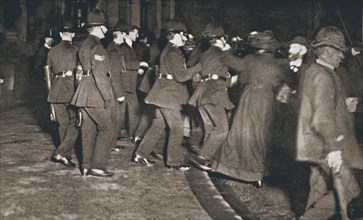 The Women's Freedom League attempting to enter the House of Commons, London, 1908. Artist: Unknown