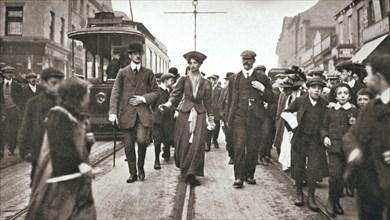 Lady Constance Lytton, British suffragette, Newcastle, 9 October 1909. Artist: Unknown