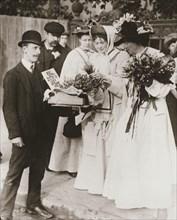 Christabel Pankhurst and Emmeline Pethick-Lawrence, British suffragettes, 18 September, 1908. Artist: Unknown