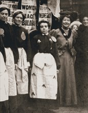 Ada Flatman, British suffragette, at a demonstration she organised in Liverpool, 1909. Artist: Unknown