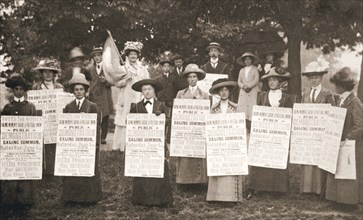 The suffragettes of Ealing, London, 1912. Artist: Unknown