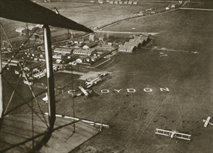 Aerial view of London Airport, 1925. Artist: Unknown
