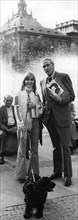 Susanne Uhlen showing Mel Ferrer around Munich, Germany, c1974-1975. Artist: Unknown