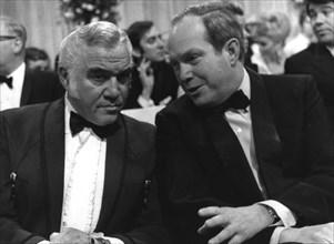 Prince Konstantin of Bavaria talking to Lorne Greene, 'Banbi' Awards, Munich, Germany, 1968. Artist: Unknown