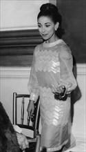 British ballerina Dame Margot Fonteyn wearing a see through dress, Covent garden, London, 1966. Artist: Unknown
