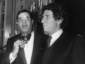 Jerry Lewis and French Minister of Culture Jack lang, Paris, France, 1984. Artist: Unknown